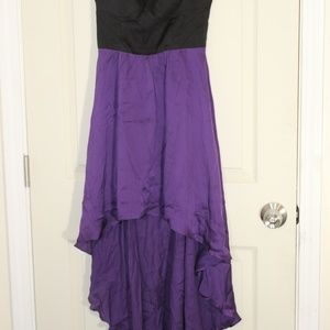 BEBE PATY DRESS SIZE XS PURPLE/BLACK